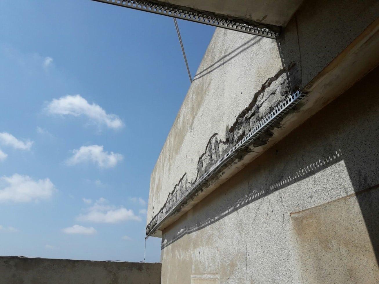 איטום קירות חיצוניים בגובה